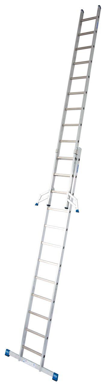 Двухсекционная выдвижная лестница. Двухсекционная лестница для профессионального использования.