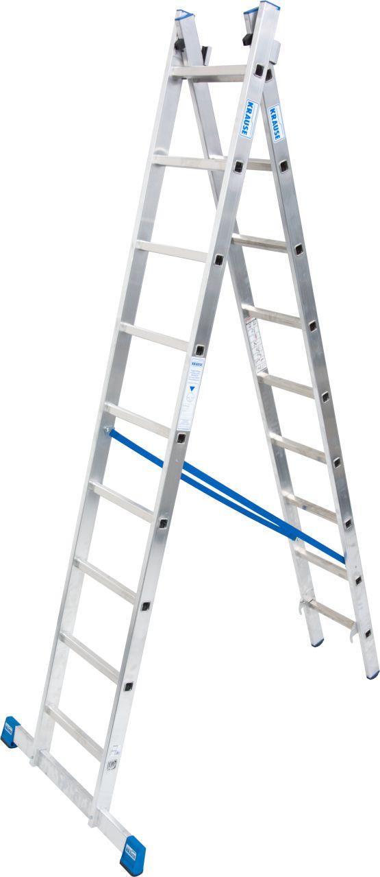 Двухсекционная универсальная лестница. Легкая профессиональная двухсекционная универсальная лестница используется как стремянка, приставная и выдвижная лестница.