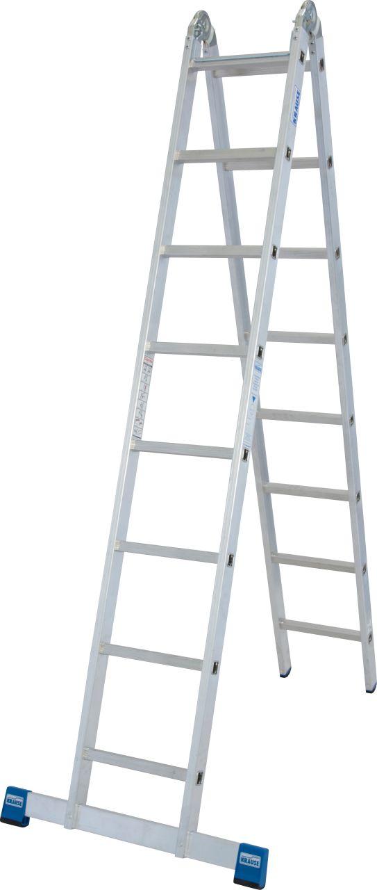 Двухсторонняя шарнирная лестница. Запатентованный усиленная двухсторонняя шарнирная лестница. Можно использовать как стремянку или приставную лестницу.