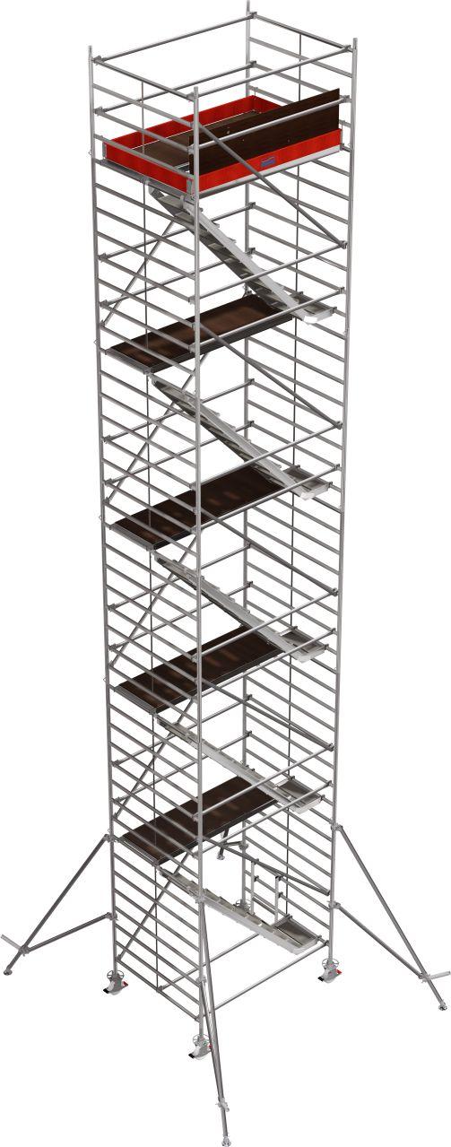 Вышка-тура серии 5500. Профессиональная вышка-тура с комфортными трапами для подъема и спуска и большой рабочей поверхностью.