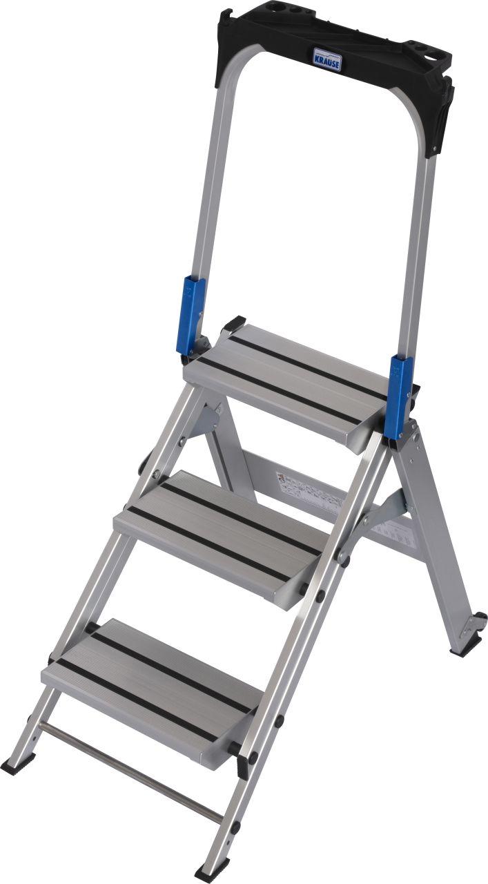 Складной трап. Прочная, складываемая, алюминиевая подставка с большими ступенями для безопасного подъёма и работы в различных сферах.