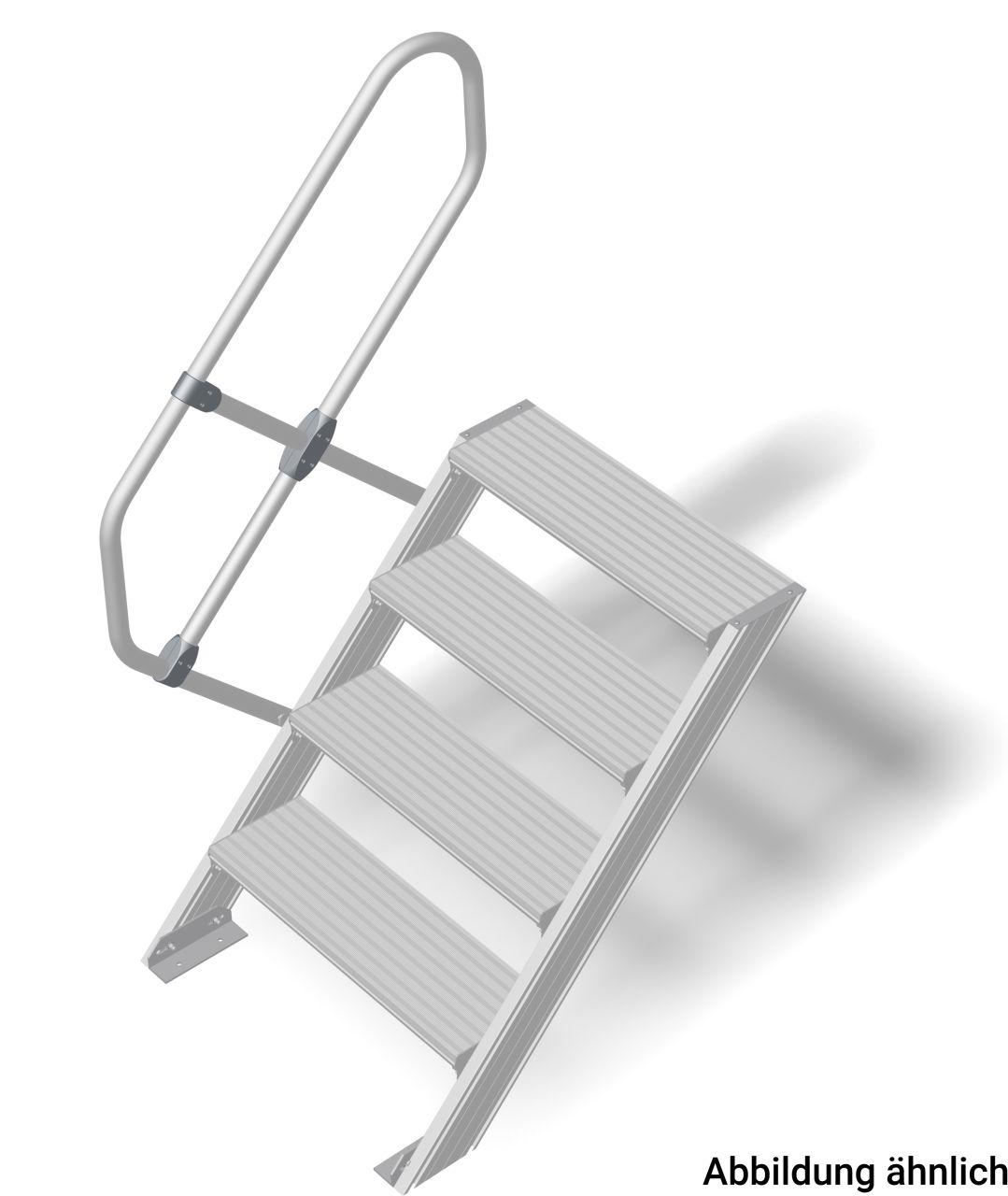 Трап алюминиевый. Наклон 45°. Ширина ступеней 600 мм. Прочный алюминиевый трап в соответствии с DIN EN ISO 14122.