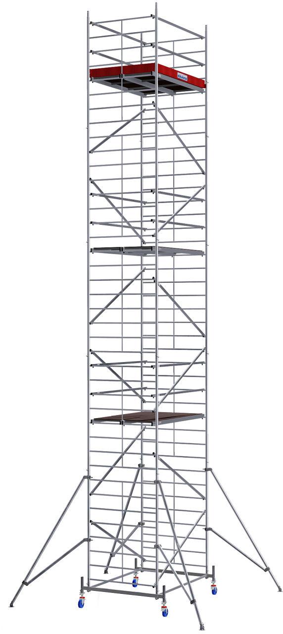 Вышка-тура с большой рабочей площадью. Вышка-тура ProTec XXL с очень большой рабочей поверхностью для более эффективной работы.