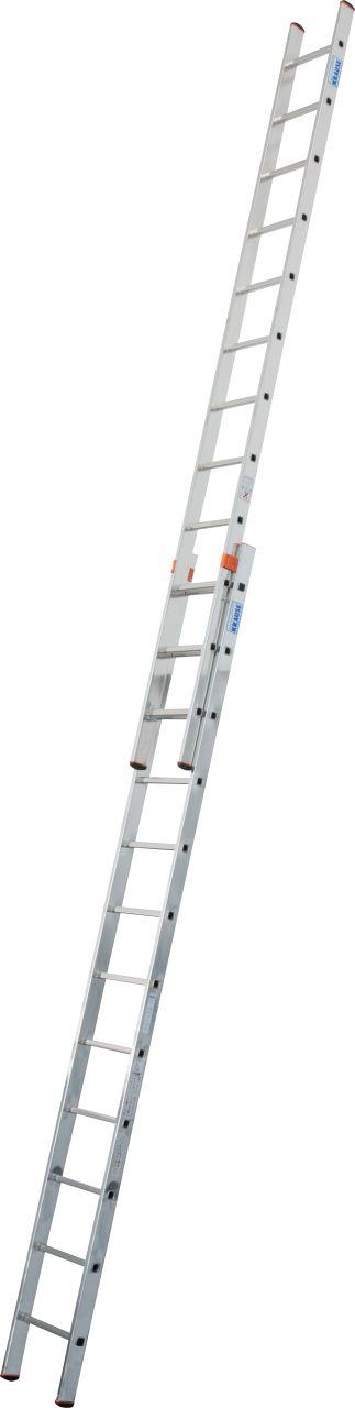 Выдвижная лестница Fabilo две секции. Легкая универсальная двухсекционная выдвижная лестница.