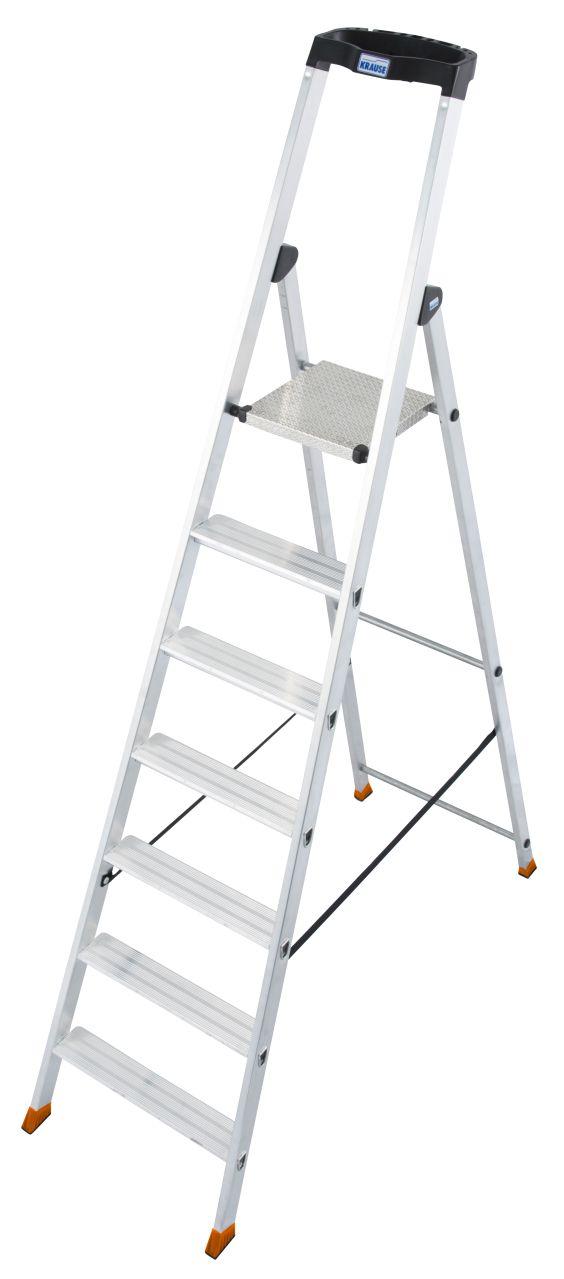 Стремянка Solido. Прочная алюминиевая стремянка с развальцованными ступенями и нескользящей площадкой для многолетнего использования.