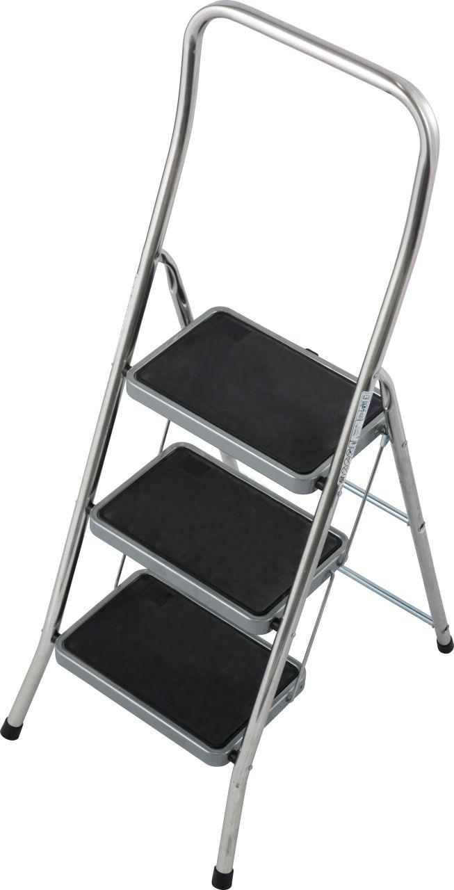 Подставка складная Toppy XL. Алюминиевая подставка с большими ступенями безопасна при подъеме и спуске. Подходит для разнообразных работ внутри помещений.