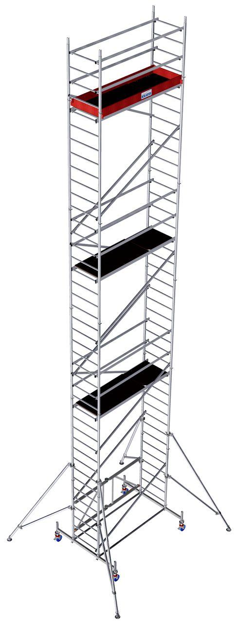 Алюминиевые складные подмости. Быстросборные и легко транспортируемые алюминиевые складные подмости с тормозными роликами для внутренних и наружных работ.