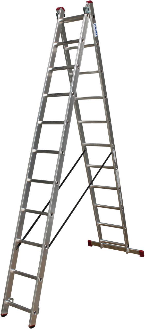 Двухсекционная универсальная лестница. Двухсекционная алюминиевая универсальная лестница. Применяться в качестве стремянки и приставной / раздвижной лестницы
