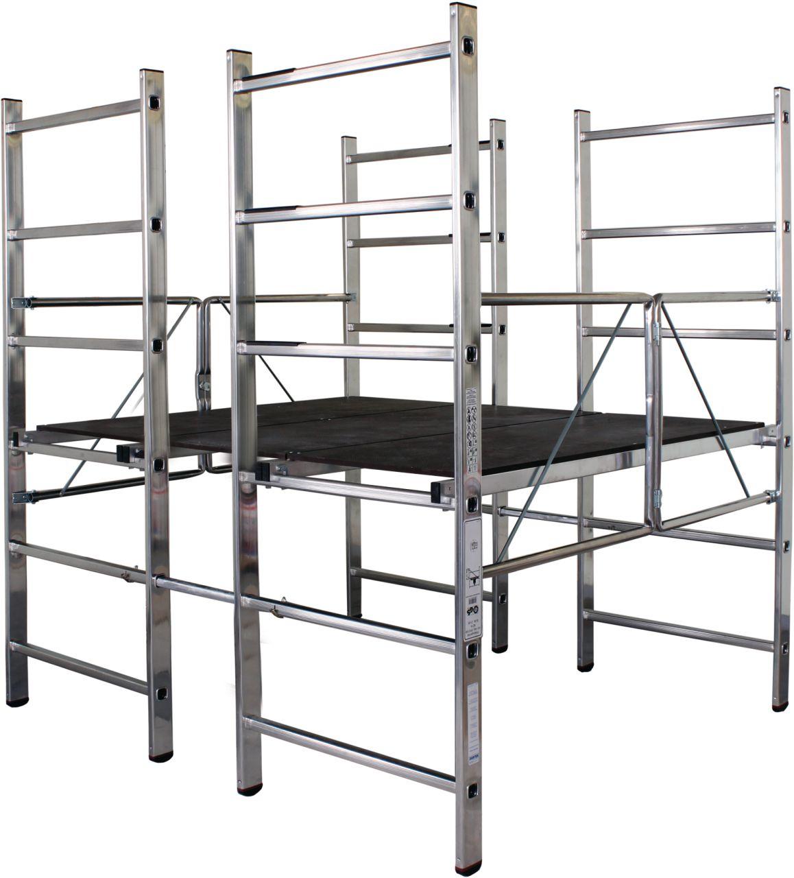 Подмости-платформа. Складывающиеся платформа - идеально подходит для ремонта. Большая рабочая площадь предоставляет достаточно места для персонала ,материалов и инструментов