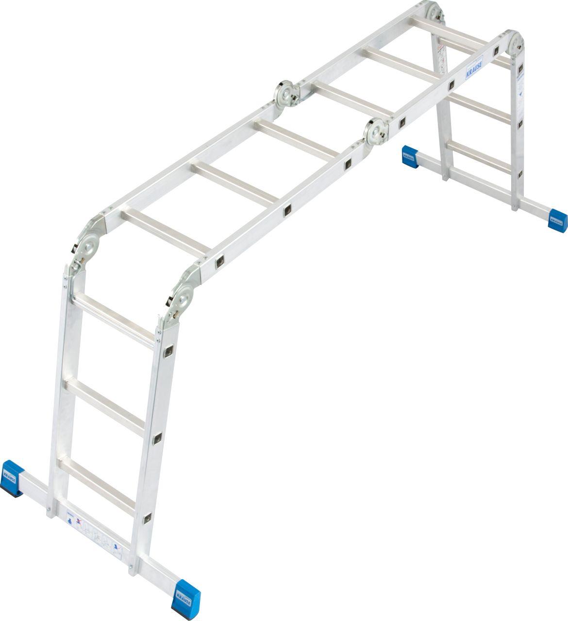 Универсальная шарнирная лестница. Данную многофункциональную шарнирную лестницу Вы можете использовать как приставную лестницу, стремянку или подмости.