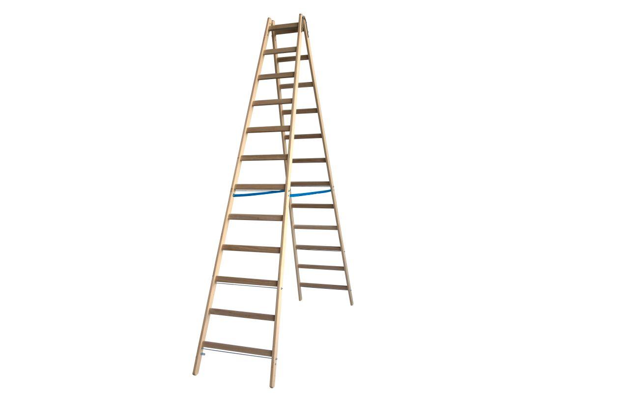 Двухсторонняя стремянка с перекладинами. Классическая лестница для различных работ. Востребована малярами и электриками.