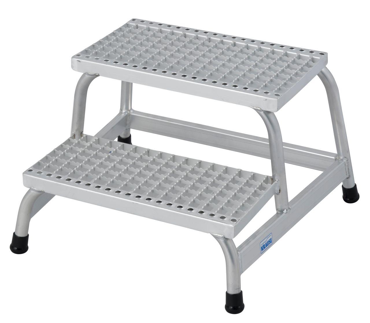Монтажная подставка с решетчатыми ступенями. Великолепно подходит для производств, связанных с повышенным риском появления влаги или масел на рабочих поверхностях