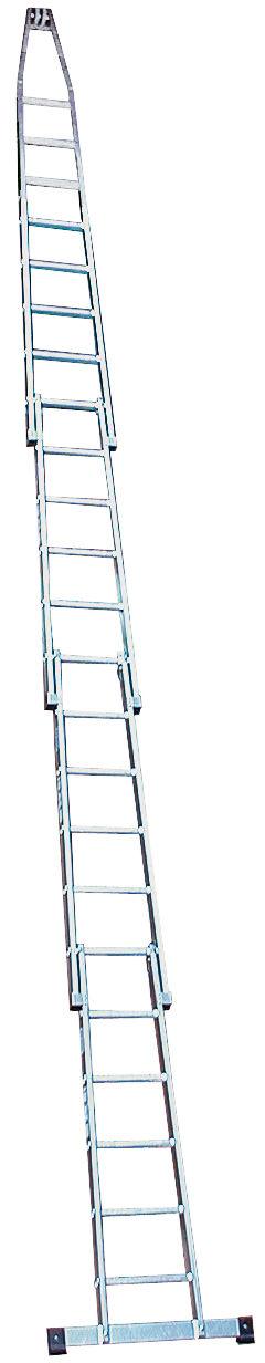 Лестница для чистки стёкол. Лестница состоит из компактных вставляемых друг в друга частей из алюминия. Удобна в использовании при различных высотах.