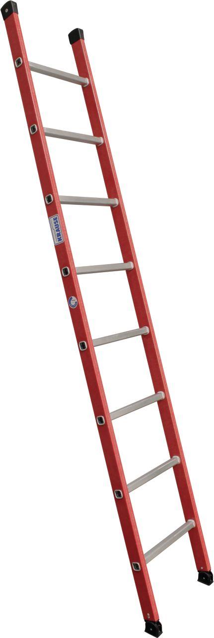 Диэлектрическая приставная лестница. Приставная лестница с боковинами из усиленного стекловолокна. (GFK)
