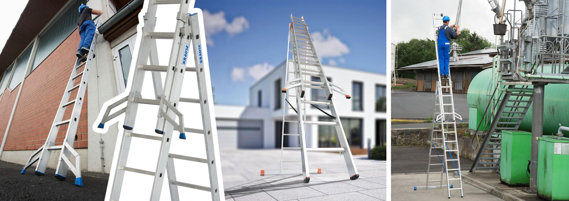 Оригинальная «Тригон-траверса» от KRAUSE позволит эксплуатировать уже имеющиеся у Вас выдвижные и универсальные лестницы