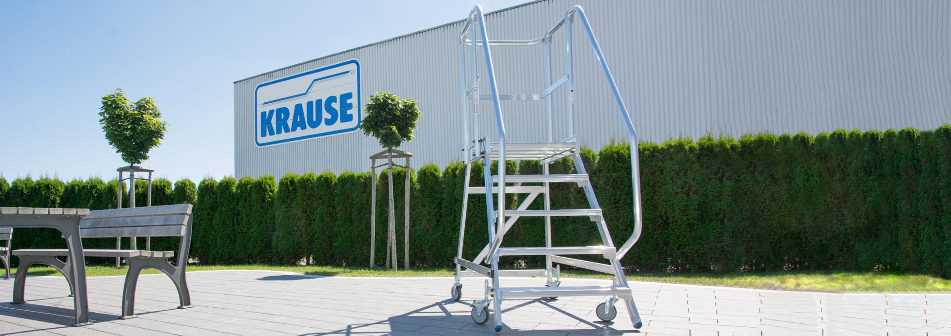 Алюминиевые лестницы с платформой KRAUSE