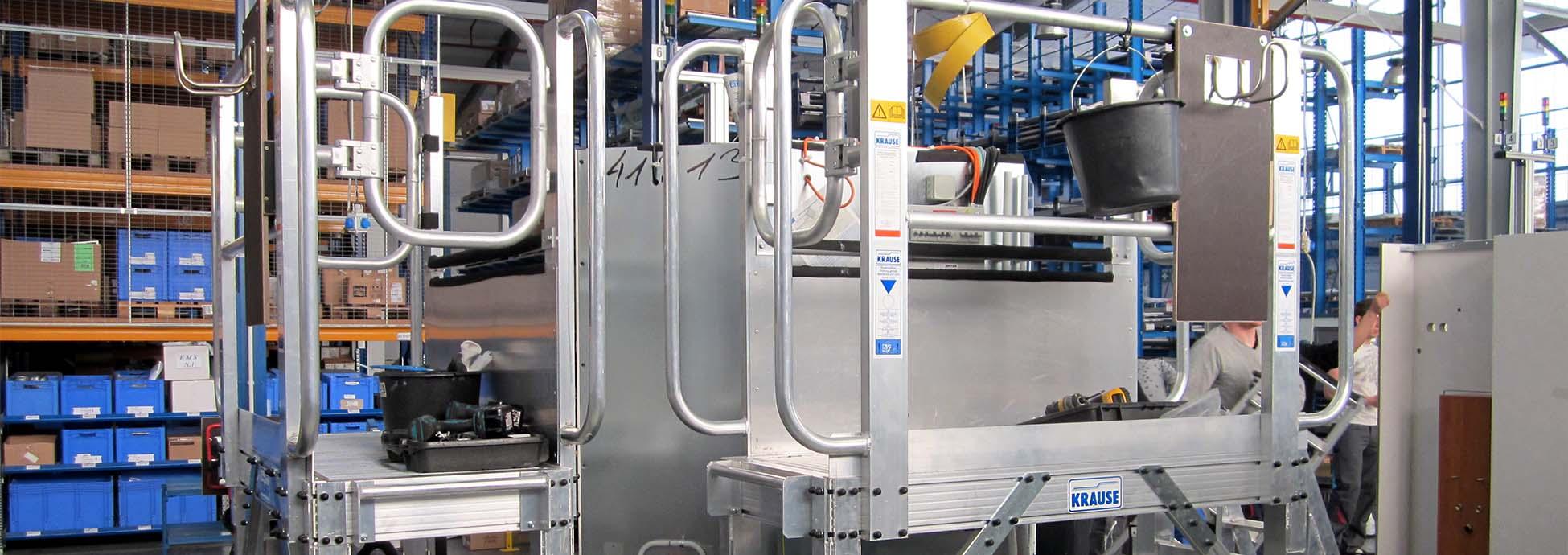 Регулируемая по высоте, передвижная рабочая платформа для производства из алюминия