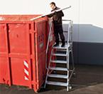 Лестница с платформой из алюминиевых профилей с высокой прочностью