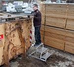 Монтажная подставка с рифлеными ступенями