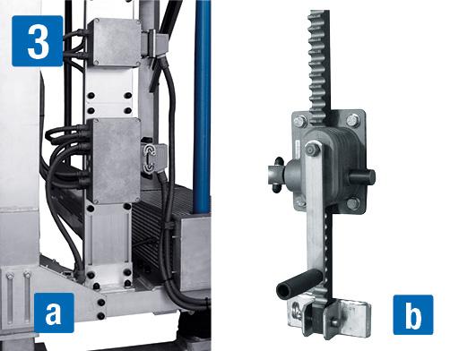 Фронтальная рабочая платформа a) электрическая, b) механическая