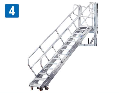 Боковые рабочие платформы с регулировкой высоты - Трап с изменяемым углом наклона