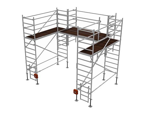 Специальные алюминиевые подмости  для обслуживания и монтажных работ